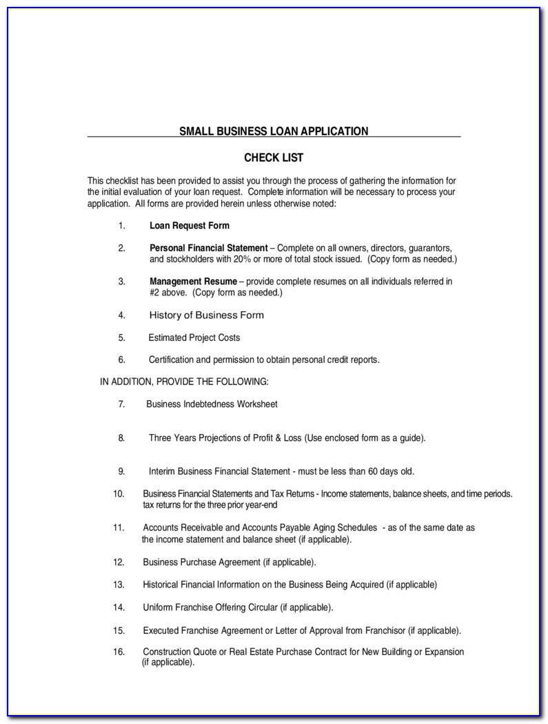 Small Business Loan Application Form Free Download Within Small Business Loan Application Form