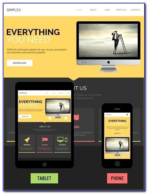 Adobe Muse Responsive Design Template