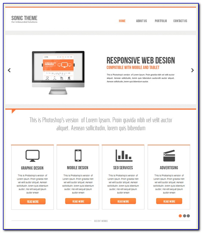Adobe Muse Responsive Template Free