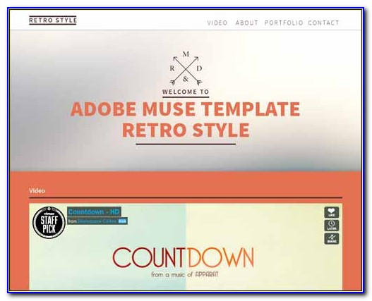 Adobe Muse Responsive Templates 2016