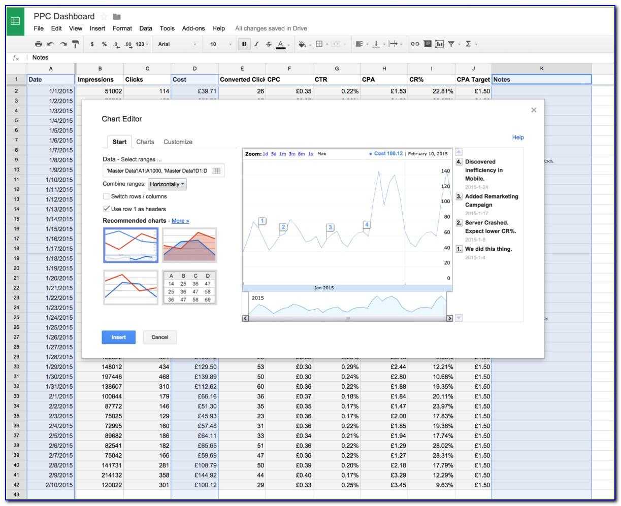 Adwords Client Report Template