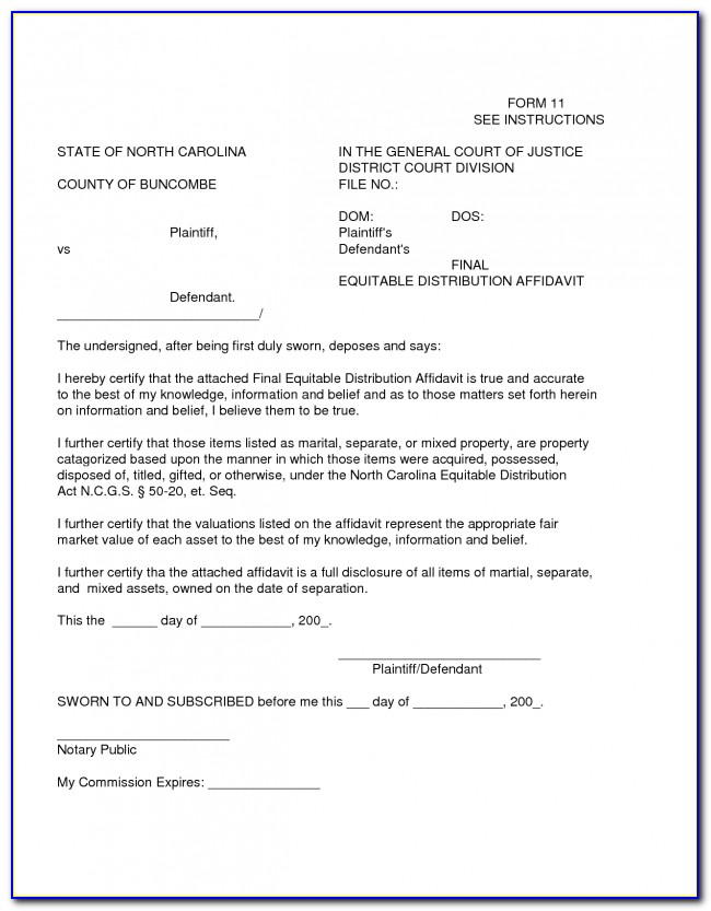 Affidavit Example South Africa