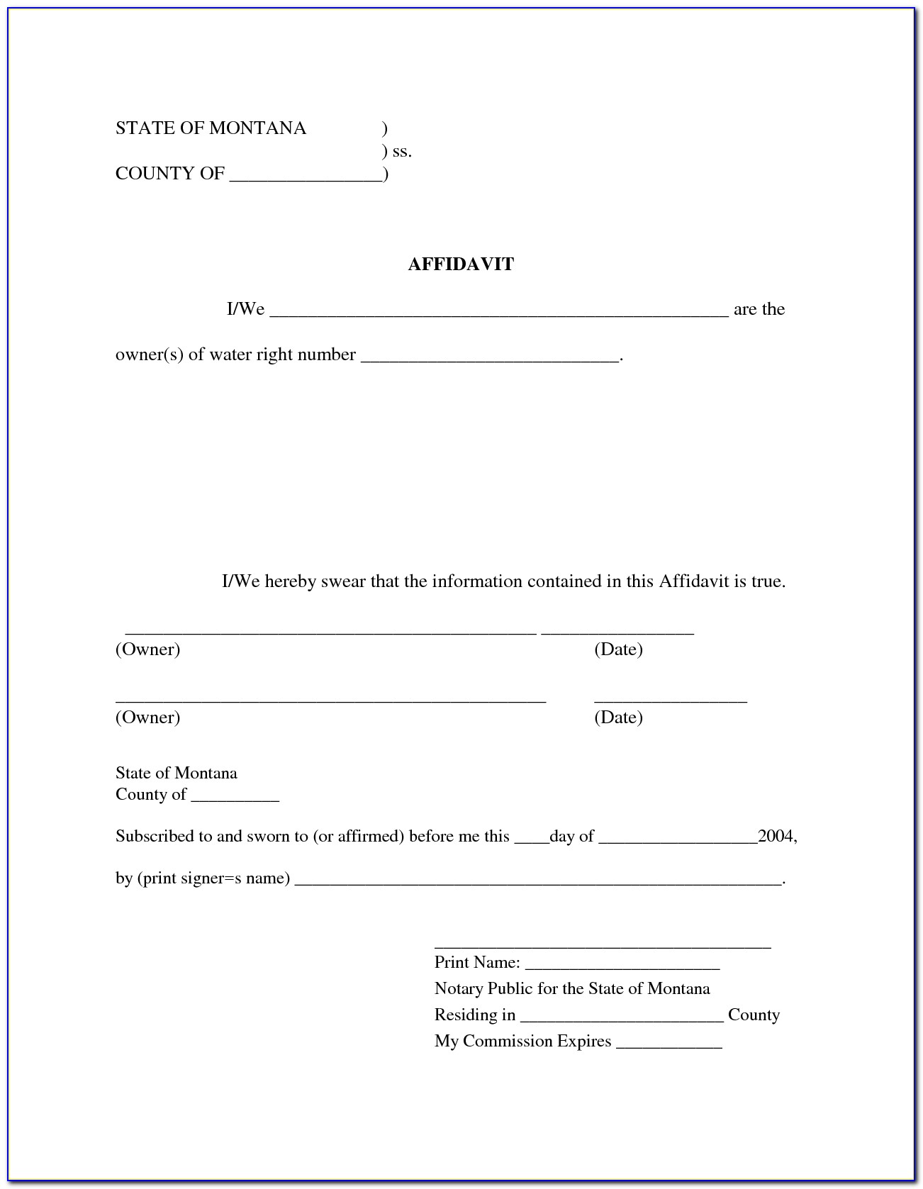 Affidavit Template South Africa Free