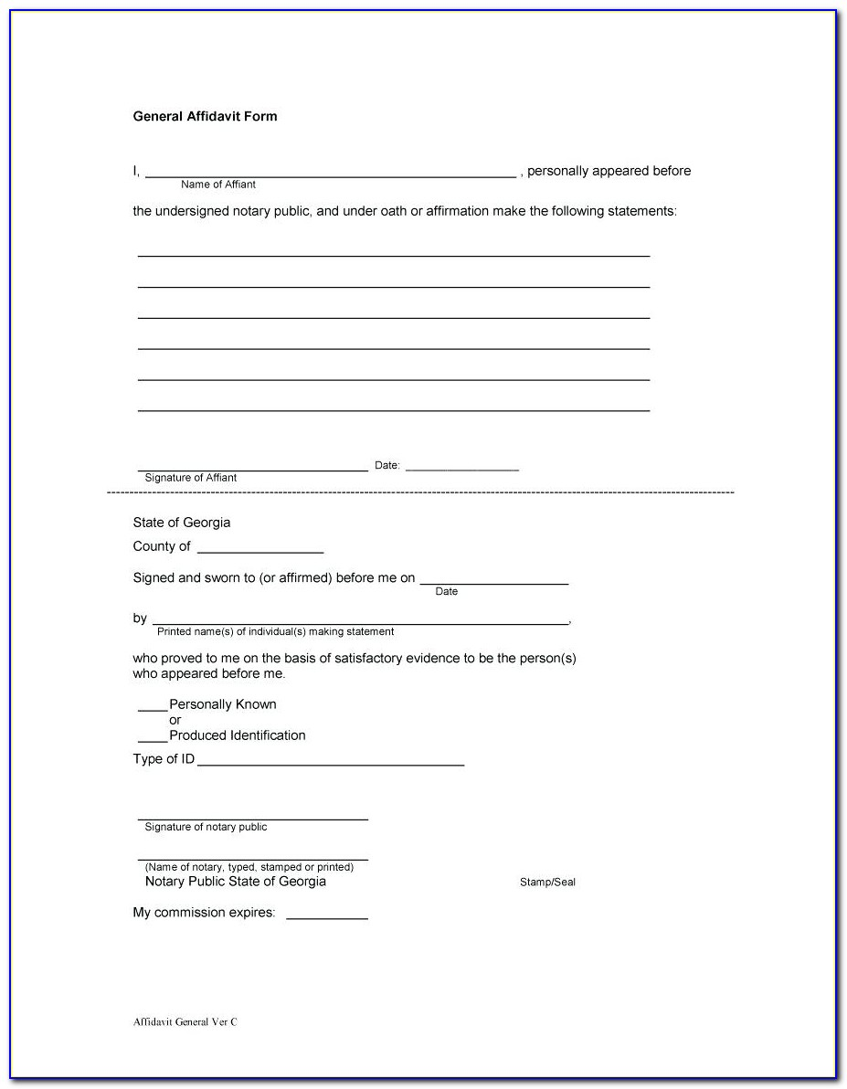 Affidavit Template South Africa Police