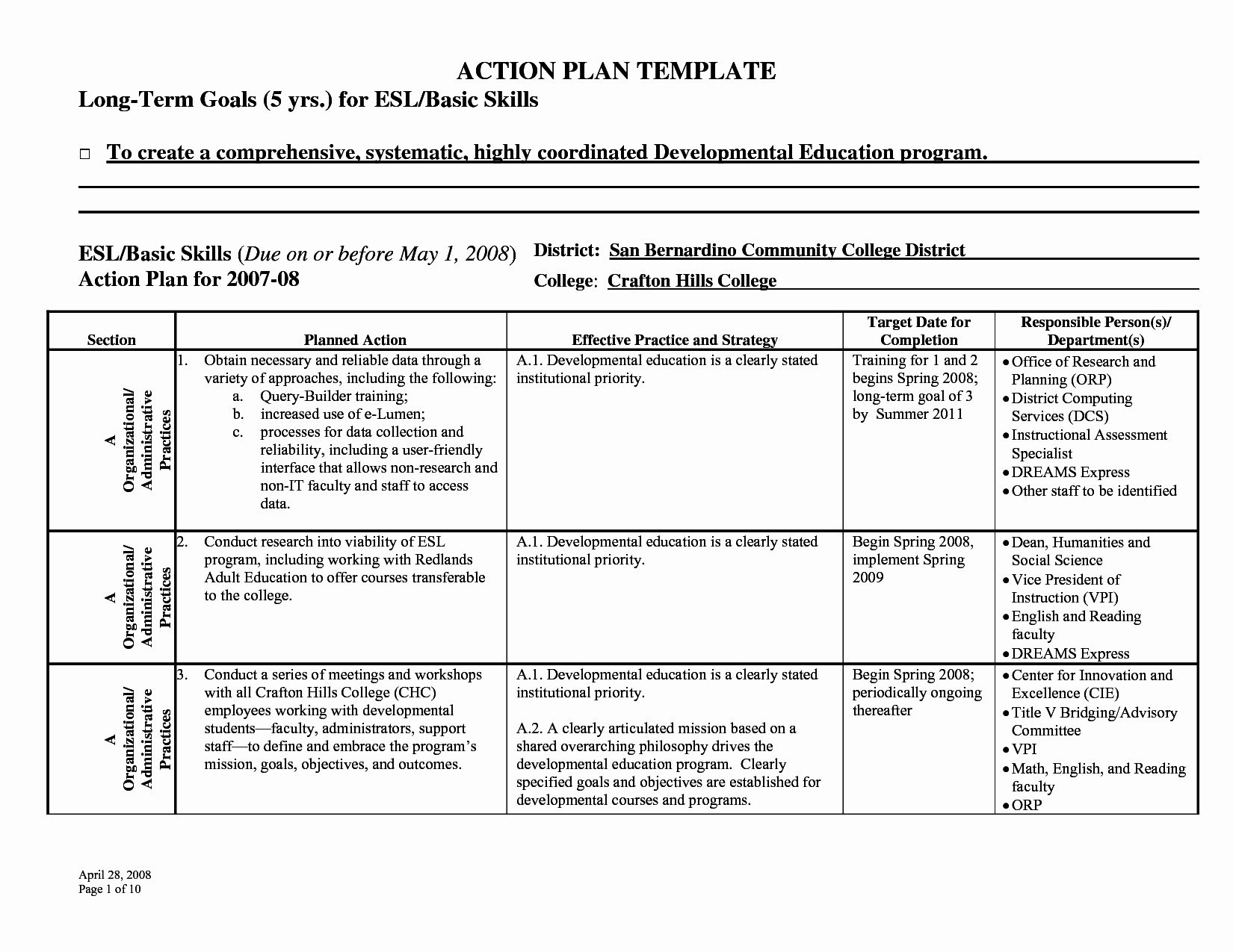 Sample Sample Affirmative Action Plan For Small Business