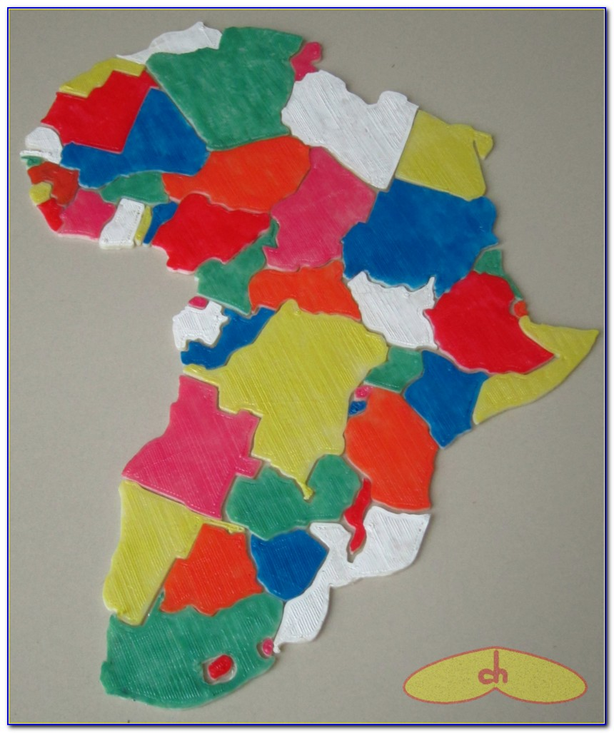 Africa Map Jigsaw Puzzles 1000 Pieces