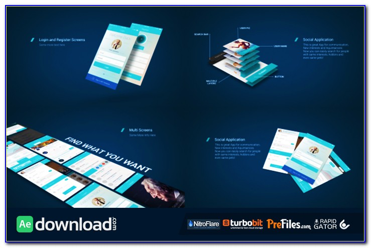 After Effects App Presentation Template Free