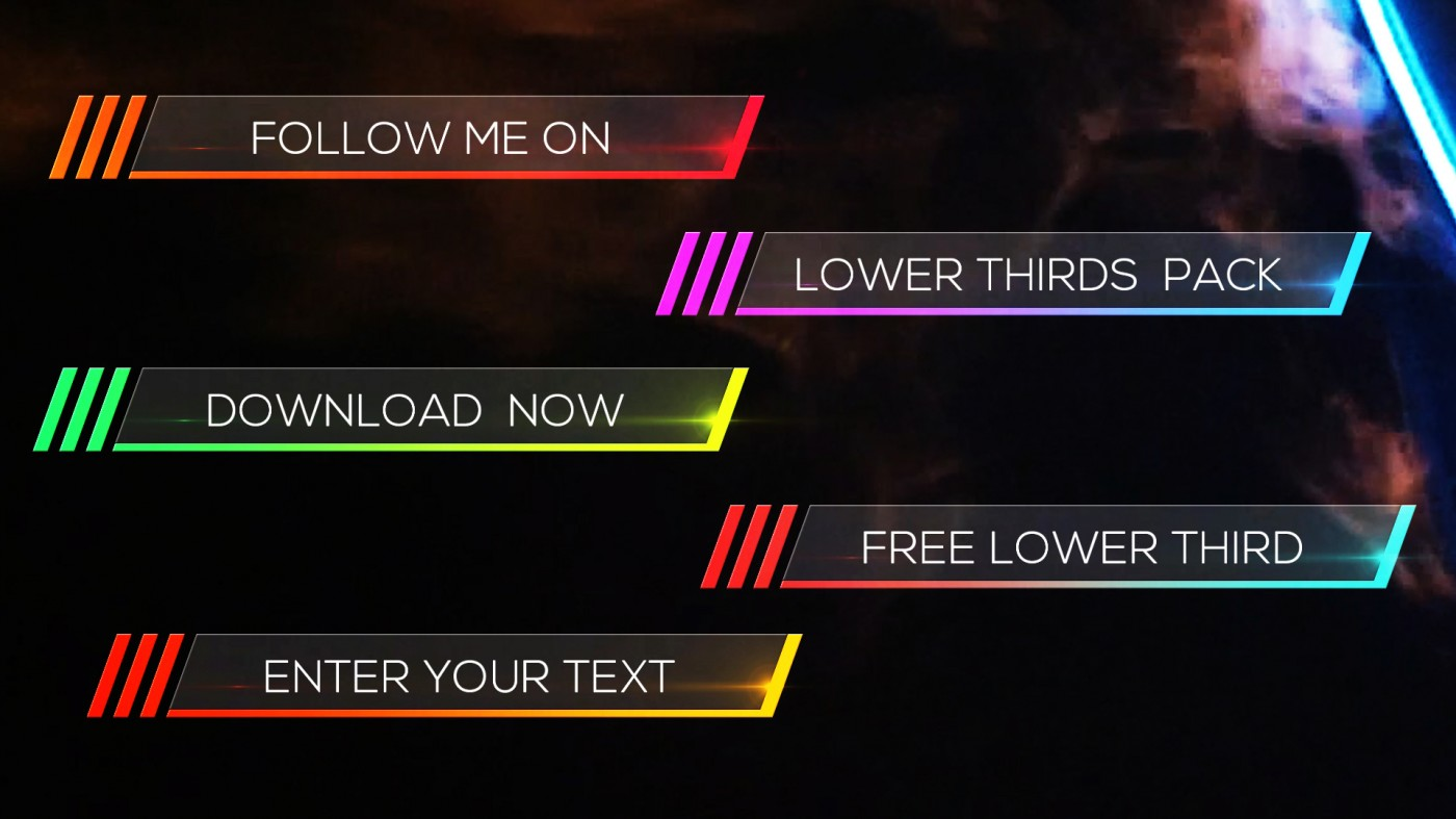 After Effects Lower Thirds Templates Free Download