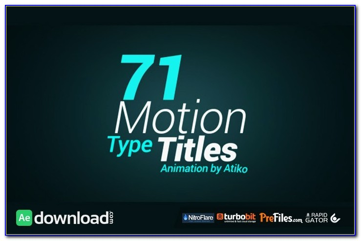 After Effects Title Templates Free Download