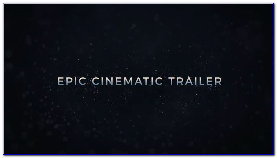 After Effects Trailer Templates Free