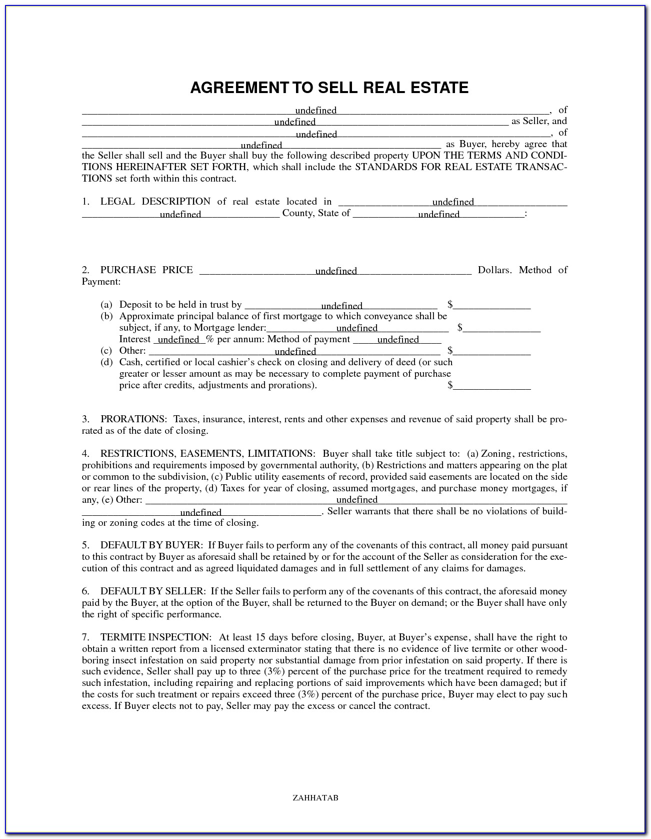Agreement To Buy And Sell Real Estate Form 330