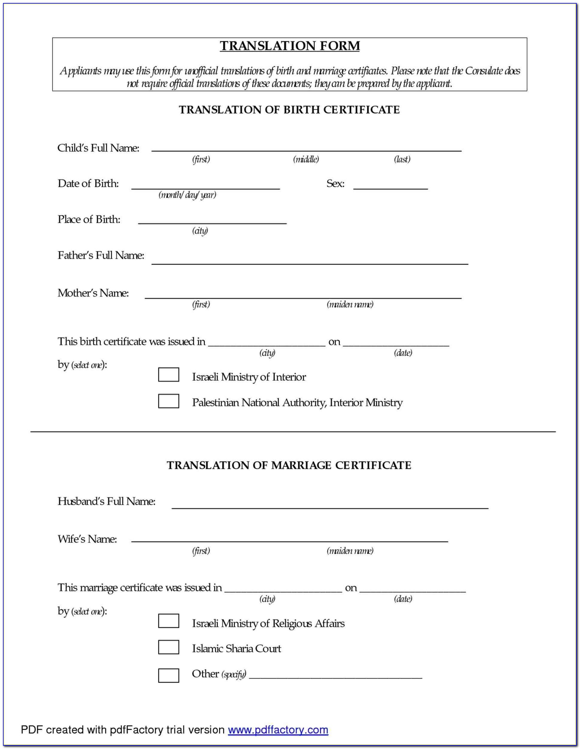 Mexican Birth Certificate Translation Template Best Of Mexican Birth Certificate Translation Template