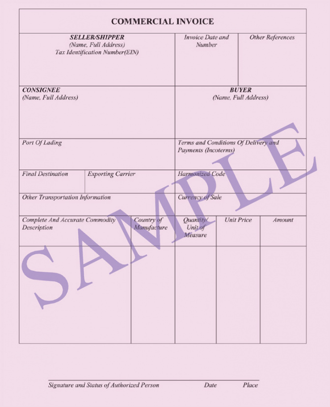 Commercial Invoice < Documents | Ocean Freight Air Freight Invoice Template