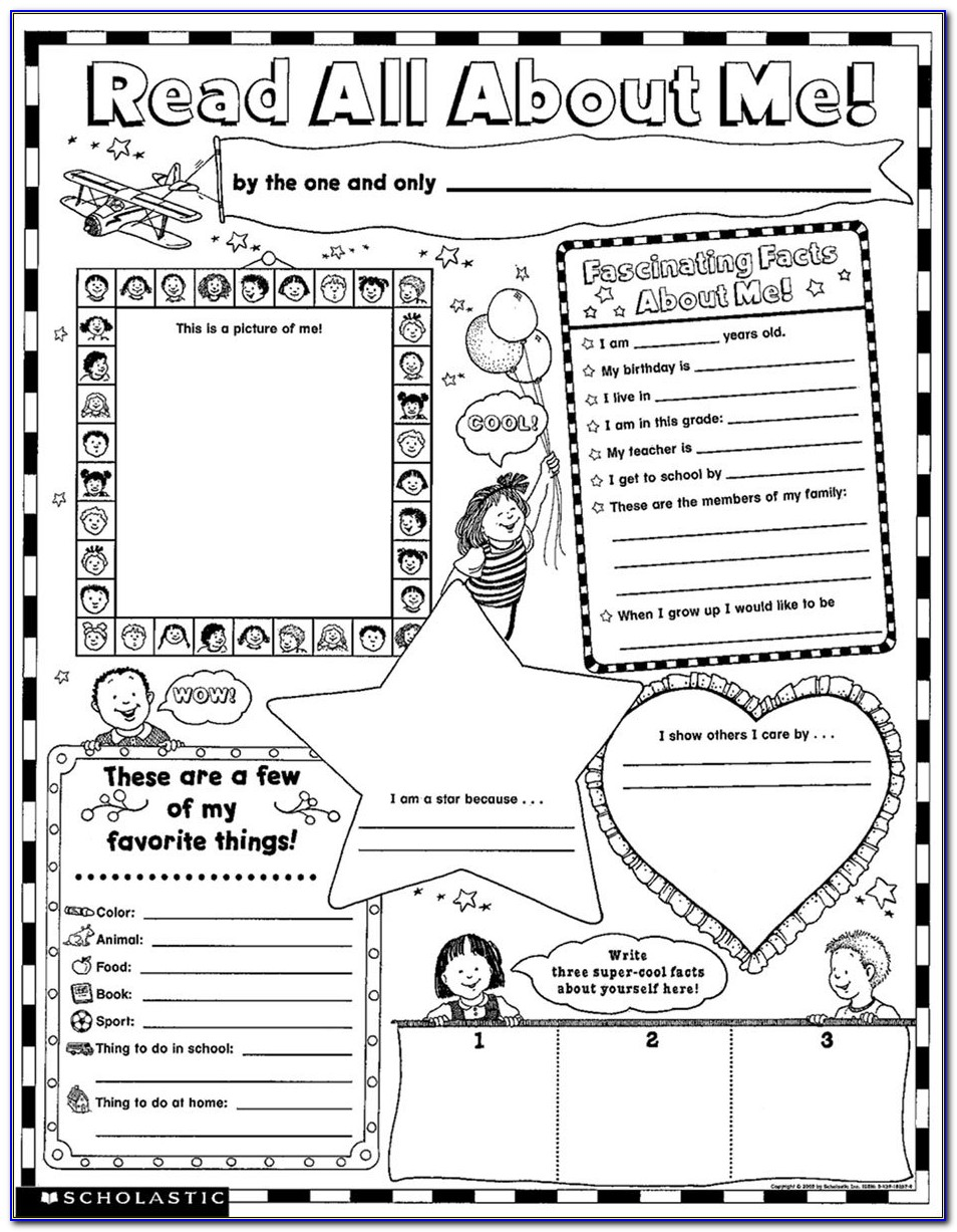 All About Me Poster Printable Templates