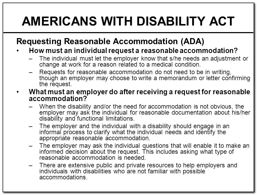 American Disability Act Forms