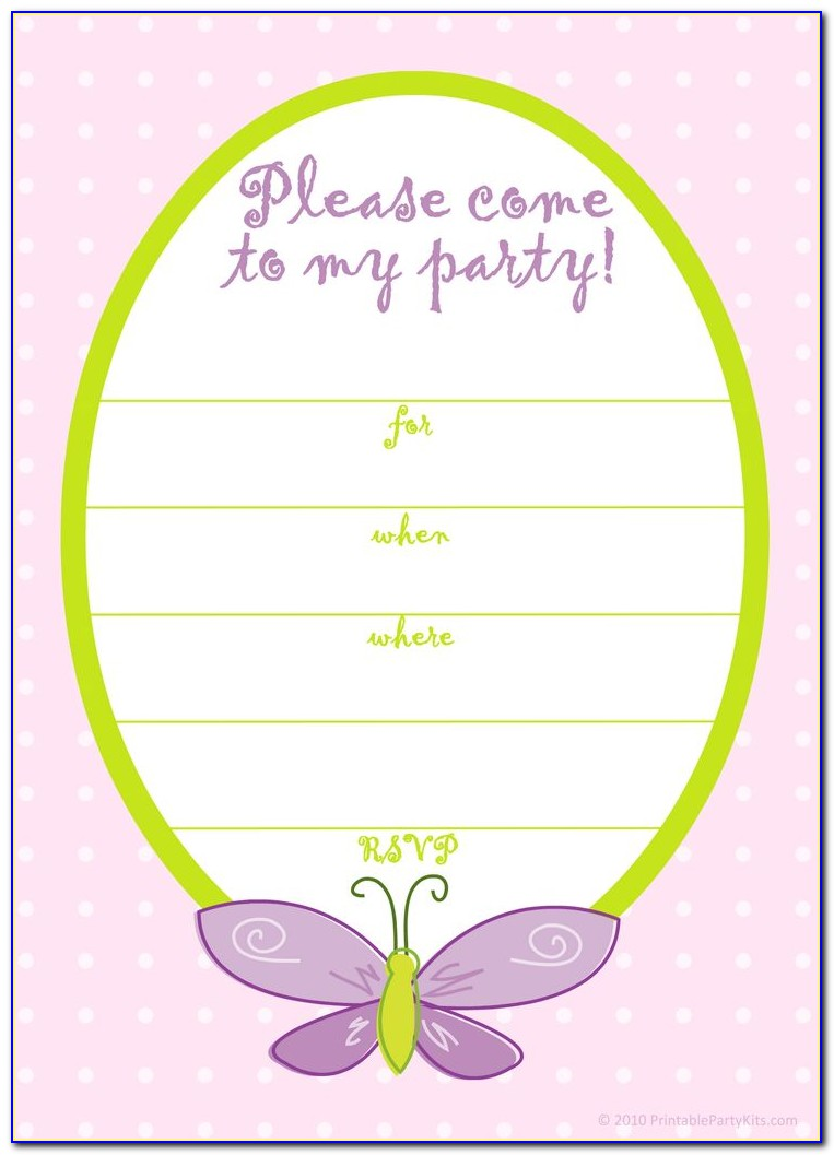American Girl Party Invitation Template Free