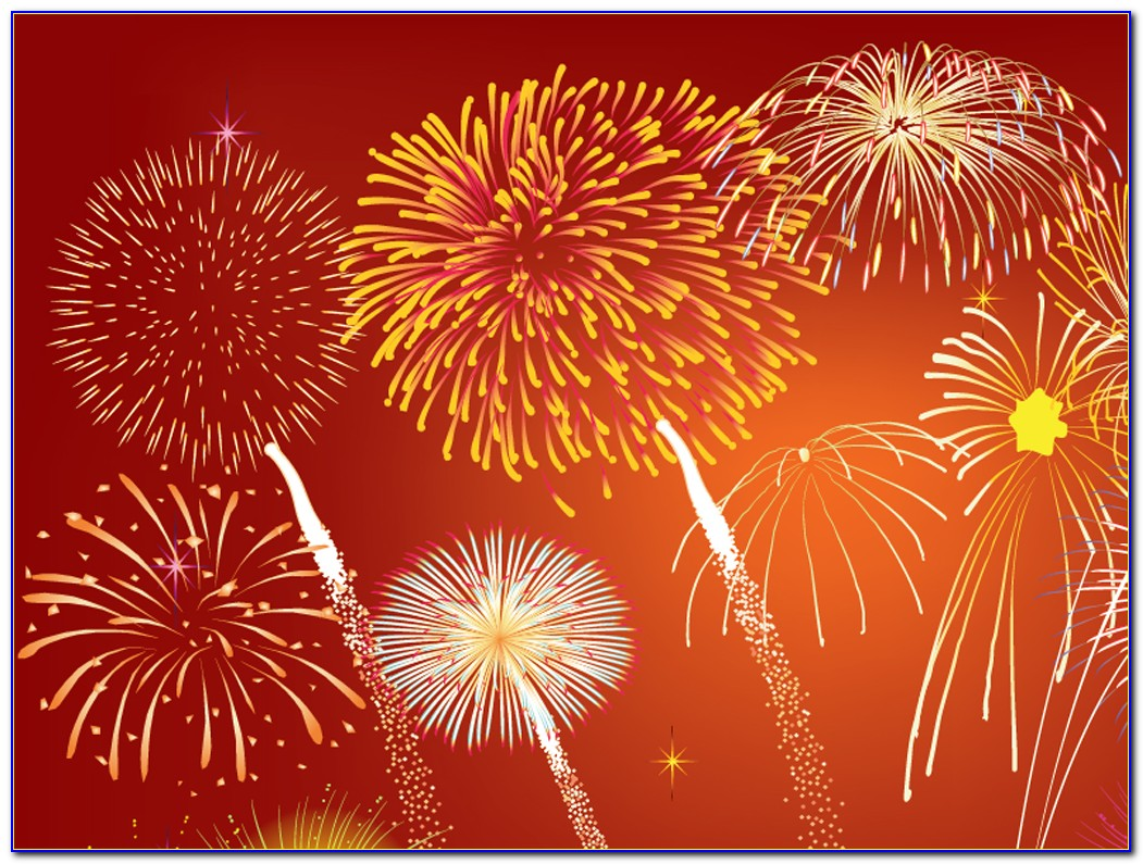 Animated Fireworks Powerpoint Template Free