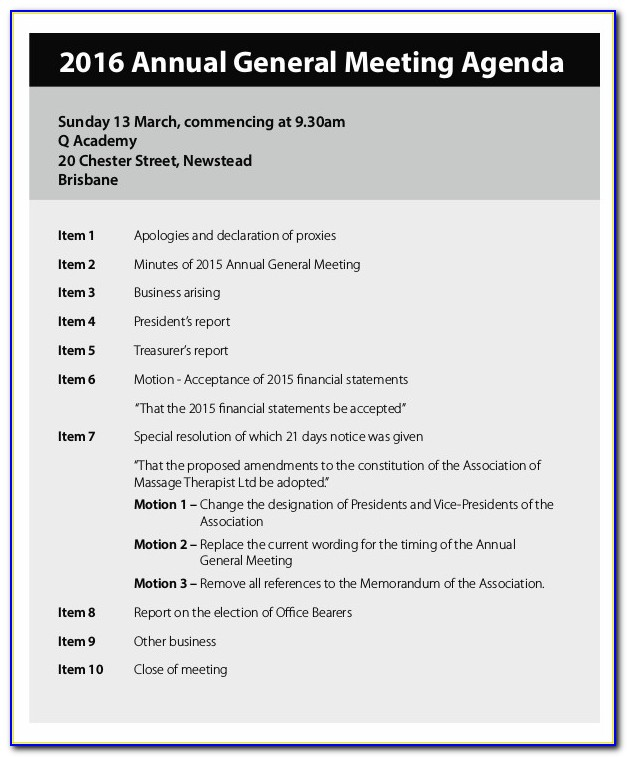 Annual General Meeting Minutes Sample Vincegray2014
