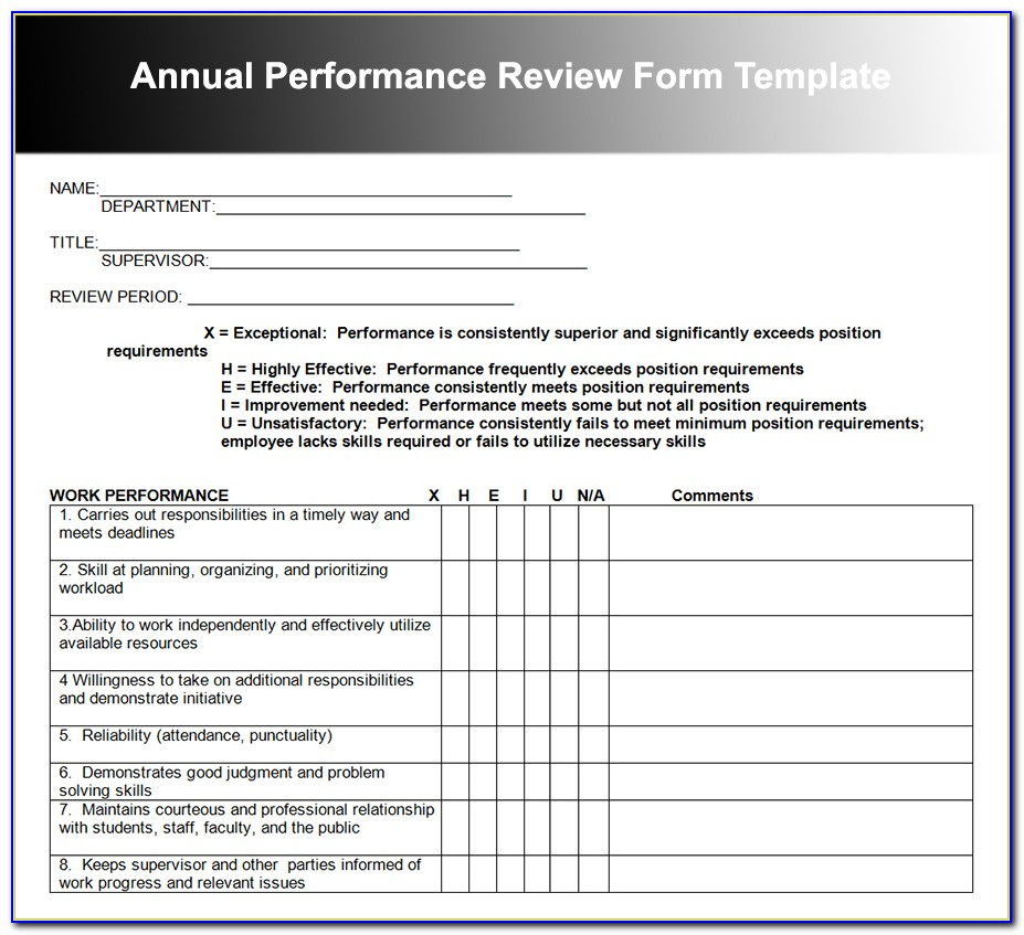 Annual Performance Evaluation Form