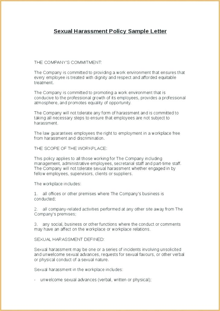Anti Discrimination Harassment Policy Template