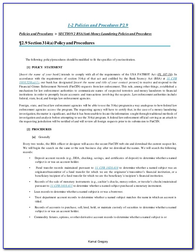 Anti Money Laundering Policy Template For Accountants