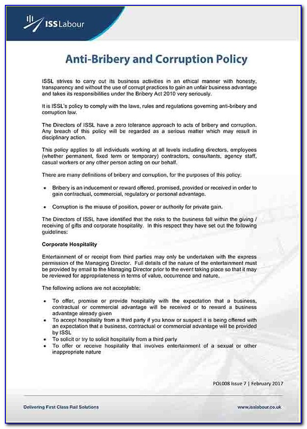 Anti Money Laundering Policy Template Uk
