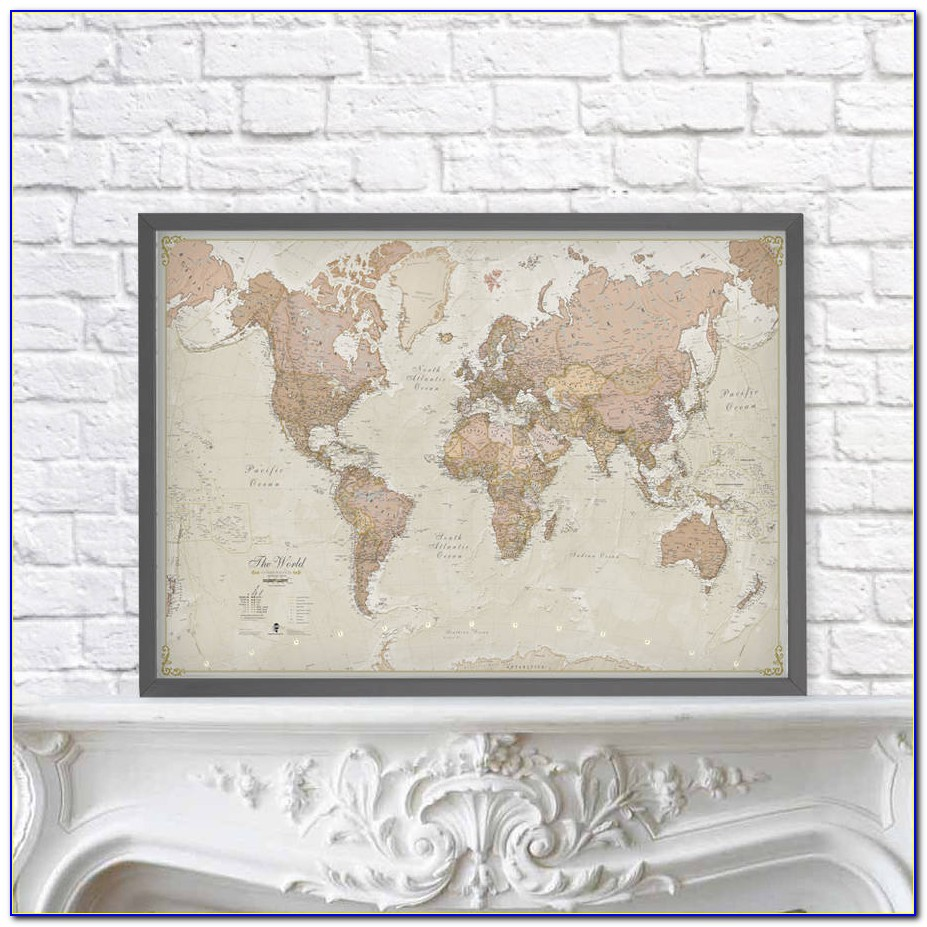 Antique Framed Maps Of Italy