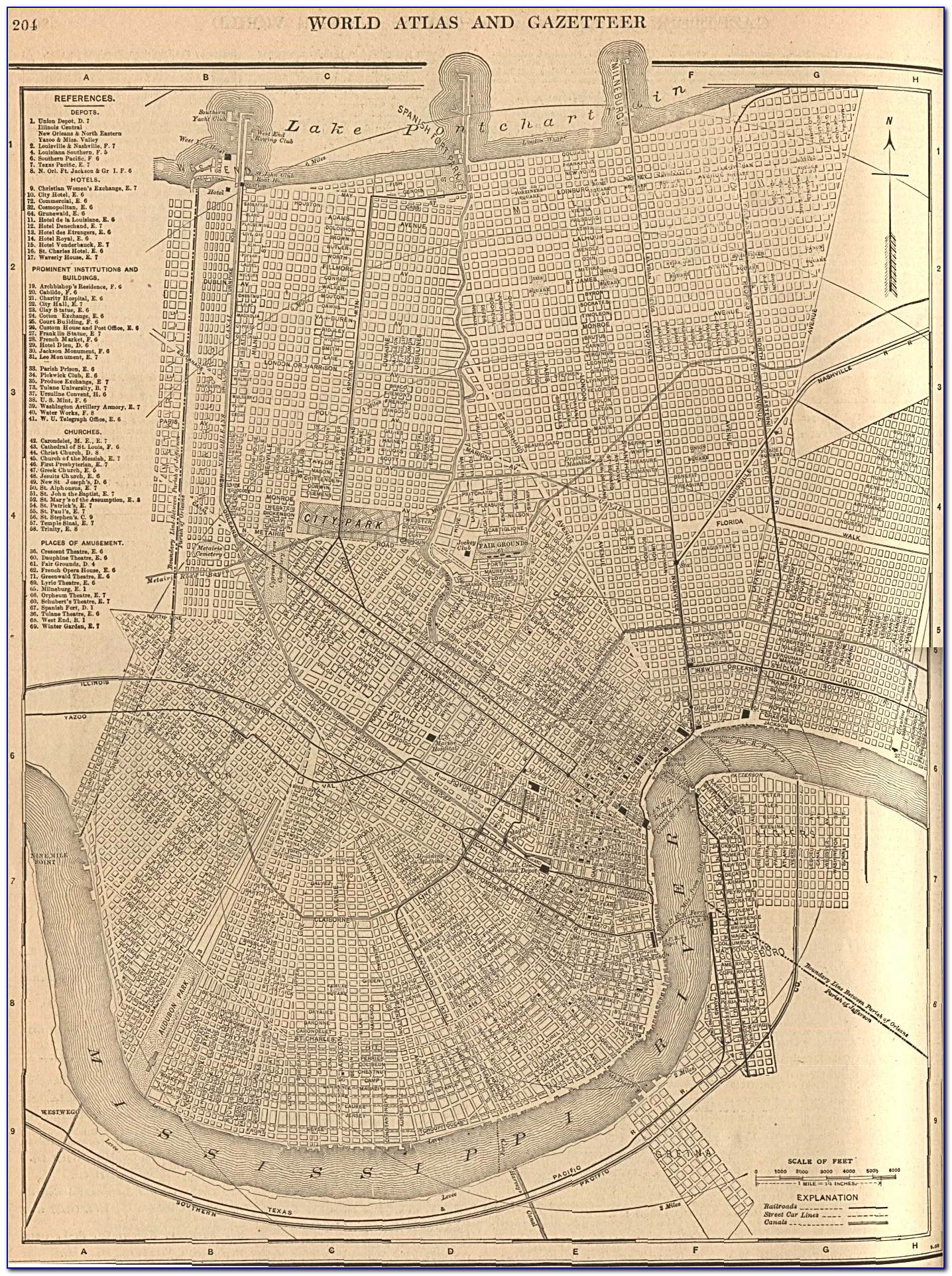 Antique Map Of New Orleans