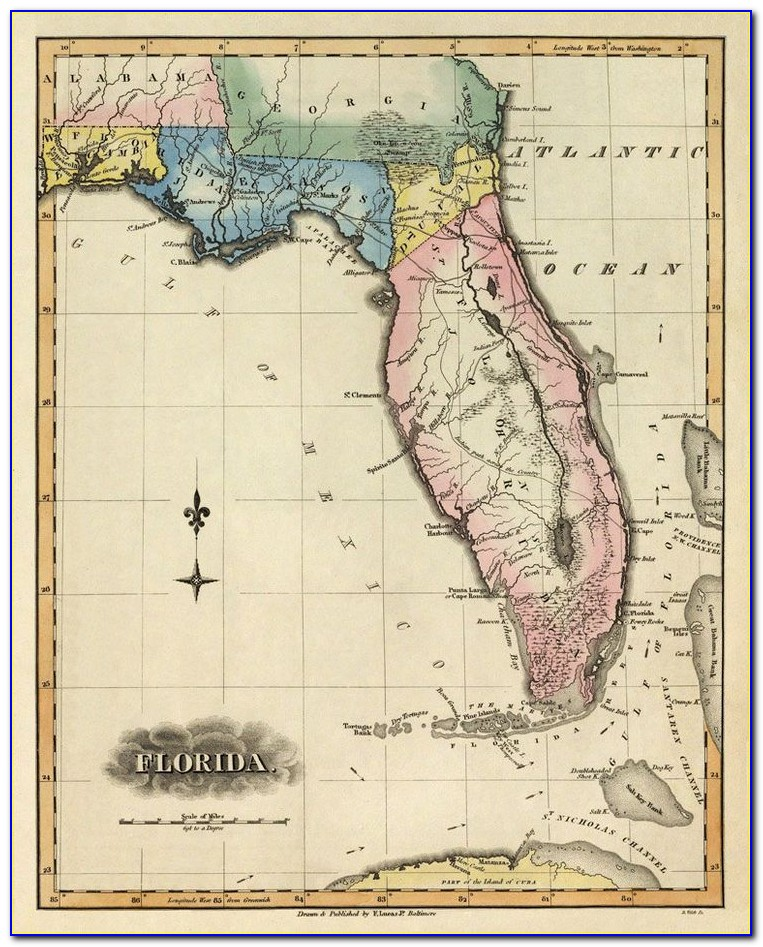 Antique Nautical Maps Florida