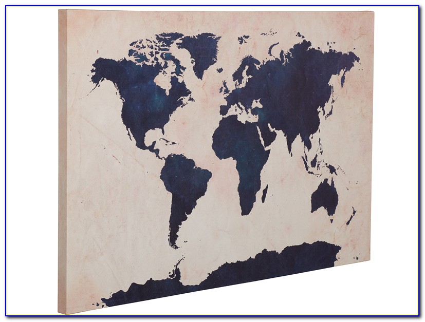 Antique Style World Map Canvas