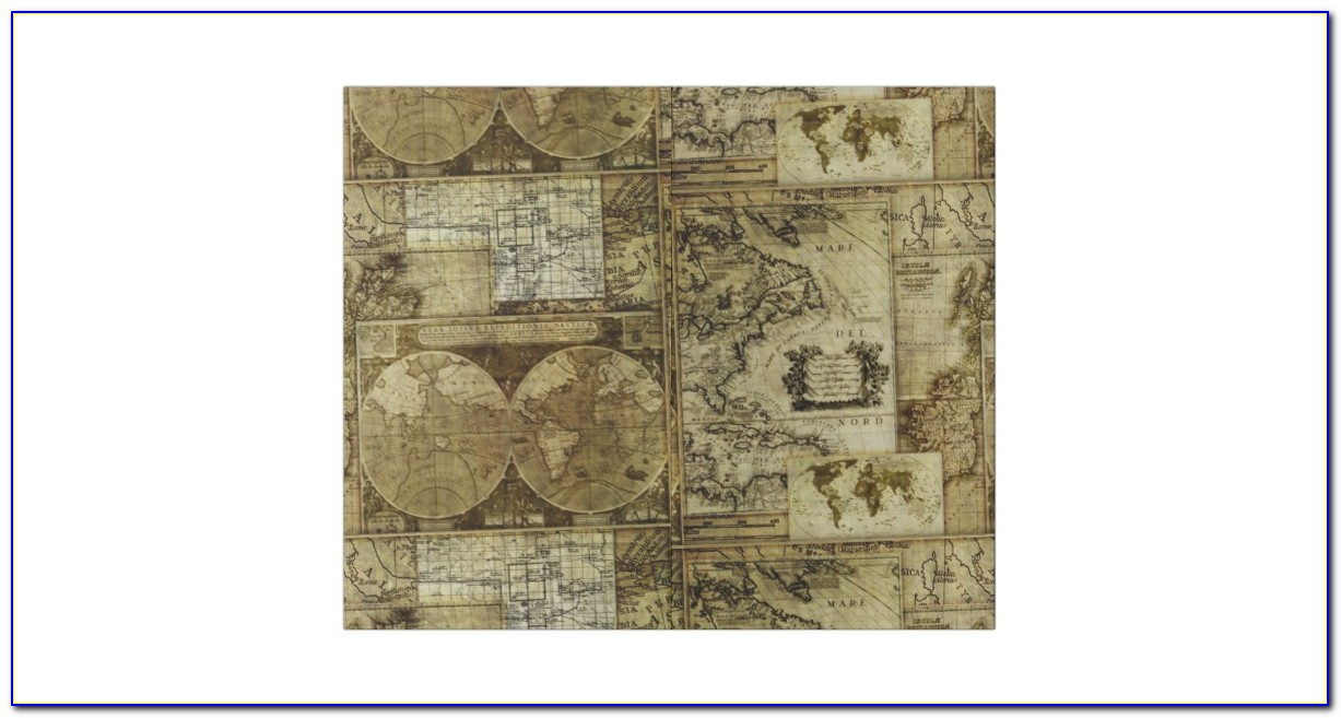 Antique World Map Wrapping Paper