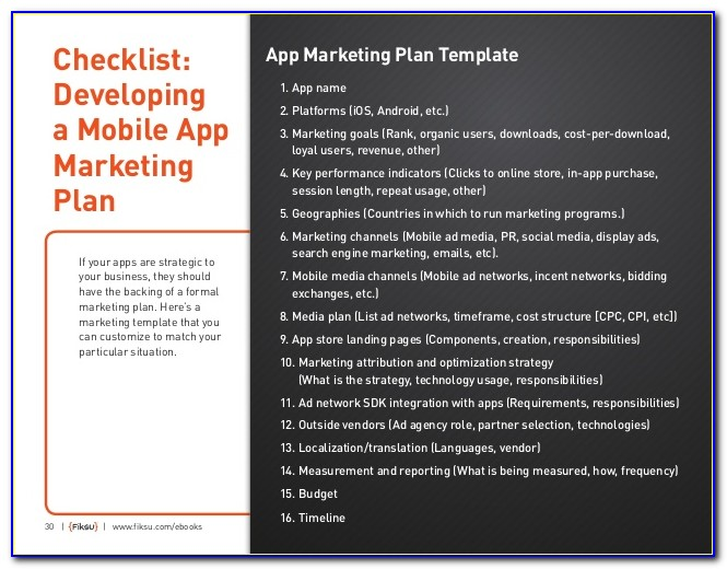 App Marketing Plan Template
