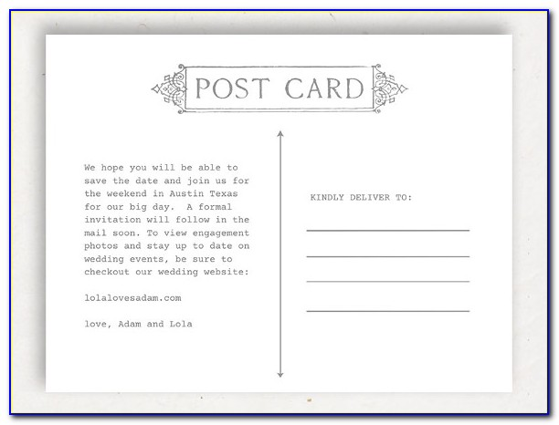 Apple Pages Postcard Template