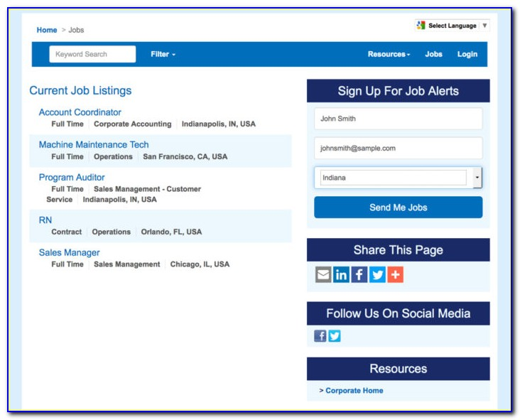 Applicant Tracking Software Resume