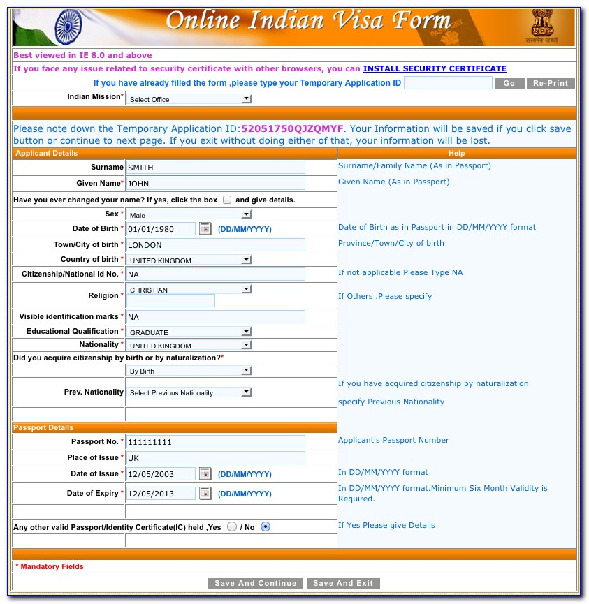 Apply For Indian Visa From Usa