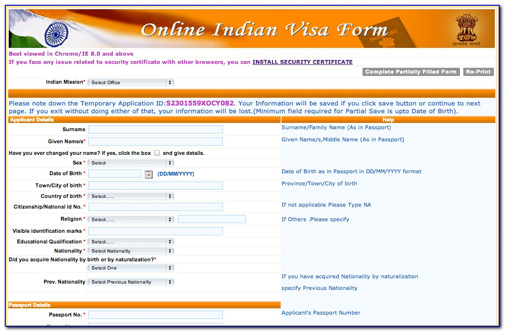 Applying For Indian Visa