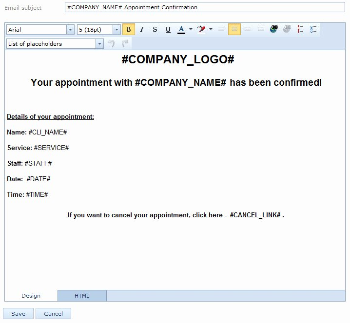 Appointment Reminder Email Template
