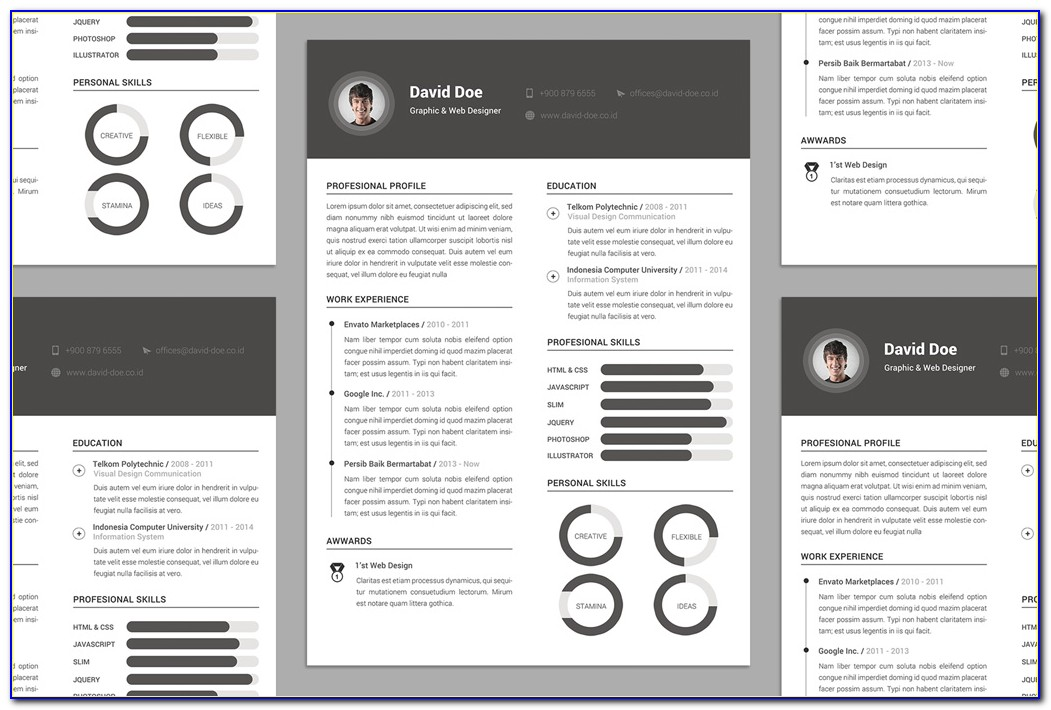 Architecture Cv Template Psd Free Download
