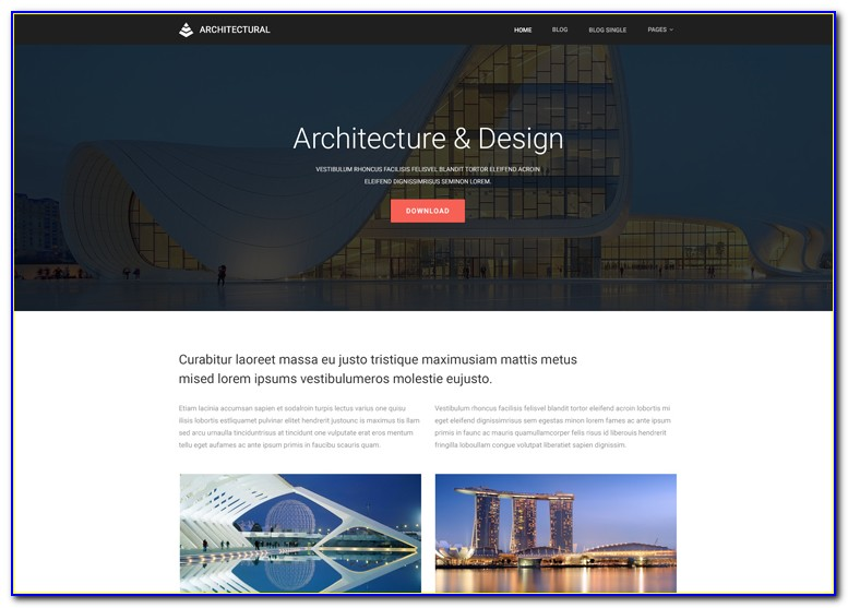 Architecture Website Templates Free Download
