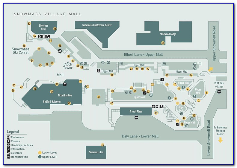 Aspen Snowmass Lodging Map