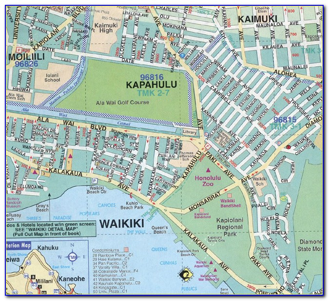 Aston Waikiki Hotels Map