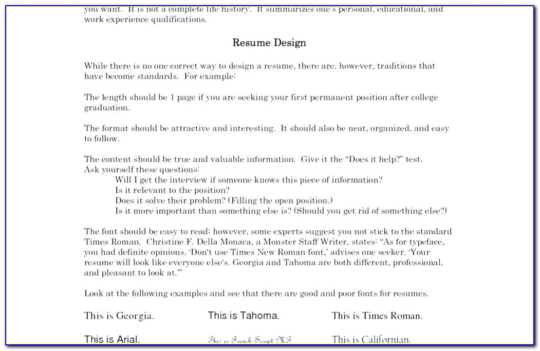 Attractive Resume Format For Freshers Pdf