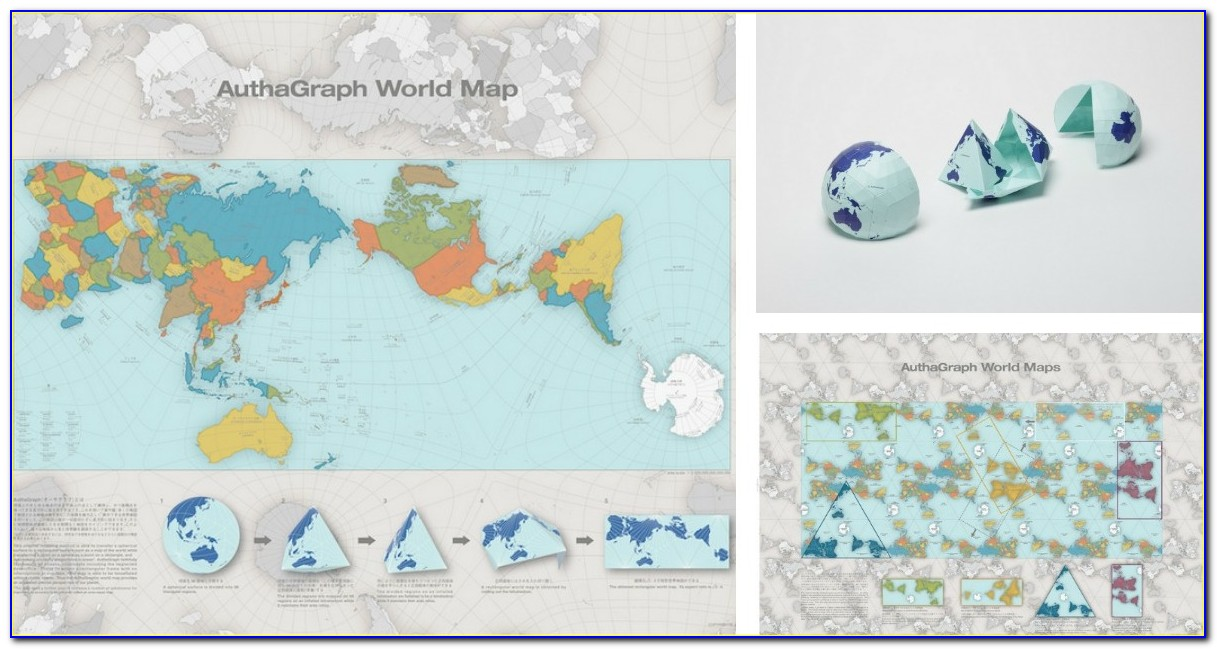 Authagraph World Map Print