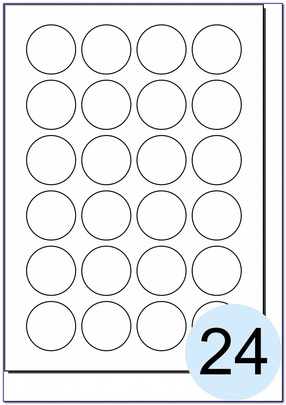 Avery 1.5 Inch Round Labels Template