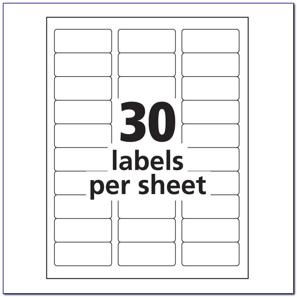 Avery Labels 10 Per Sheet Template Avery 8160 Label Template Word Templates Data