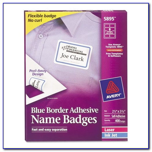 Avery 3×3 Label Template Bettymills Avery Blue Border Removable Adhesive Name