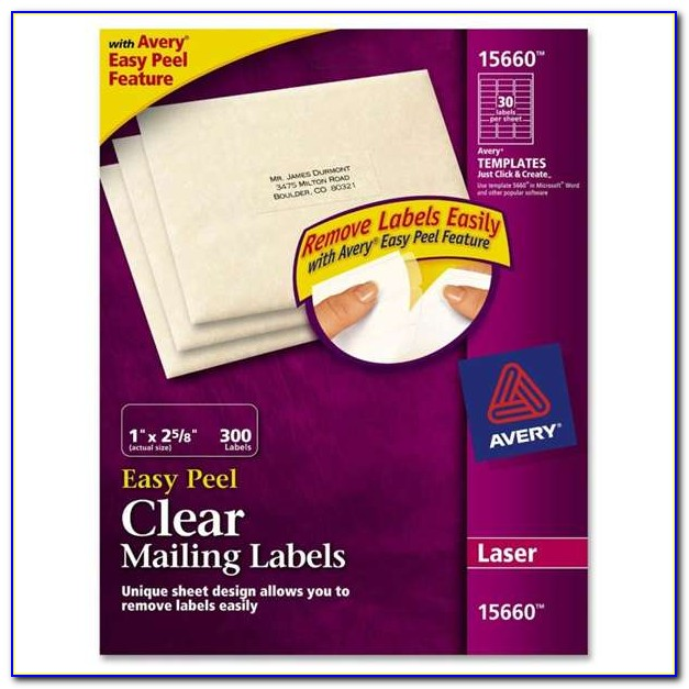 Avery 5160 Clear Labels Template
