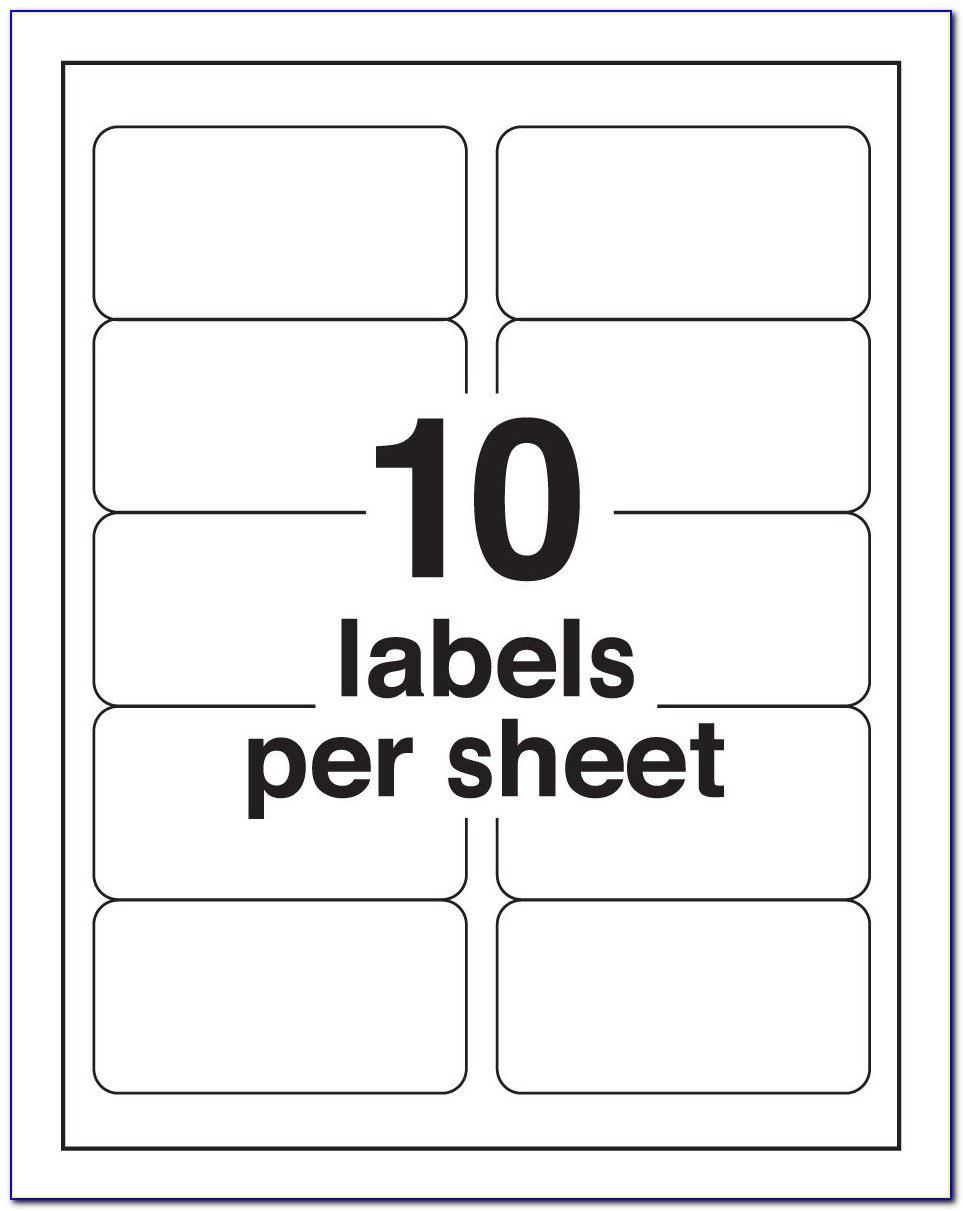 Avery 5163 Label Template Publisher