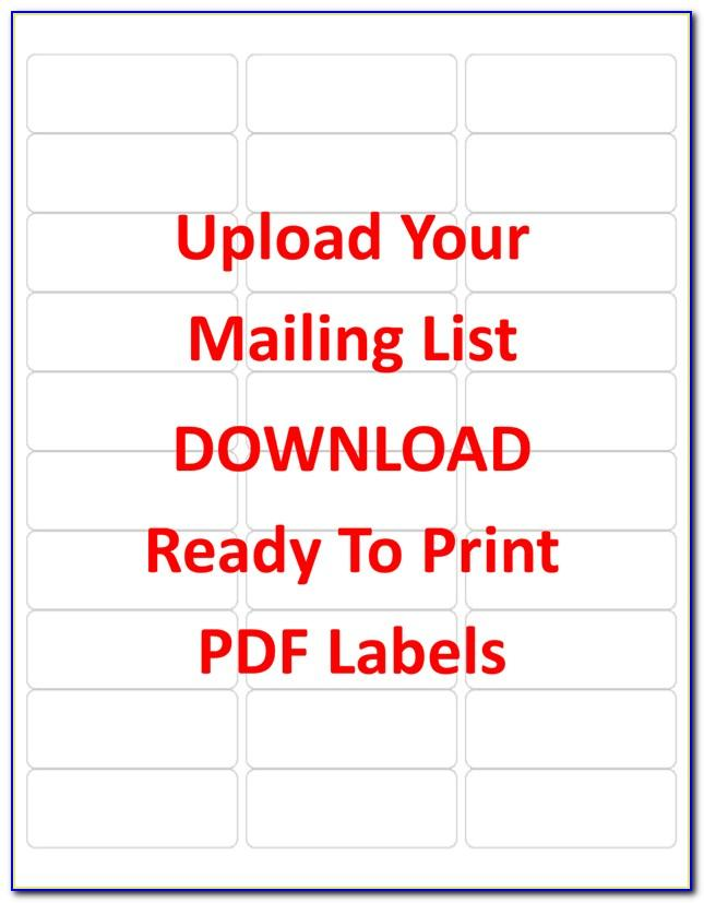 Avery Address Labels Template 5160