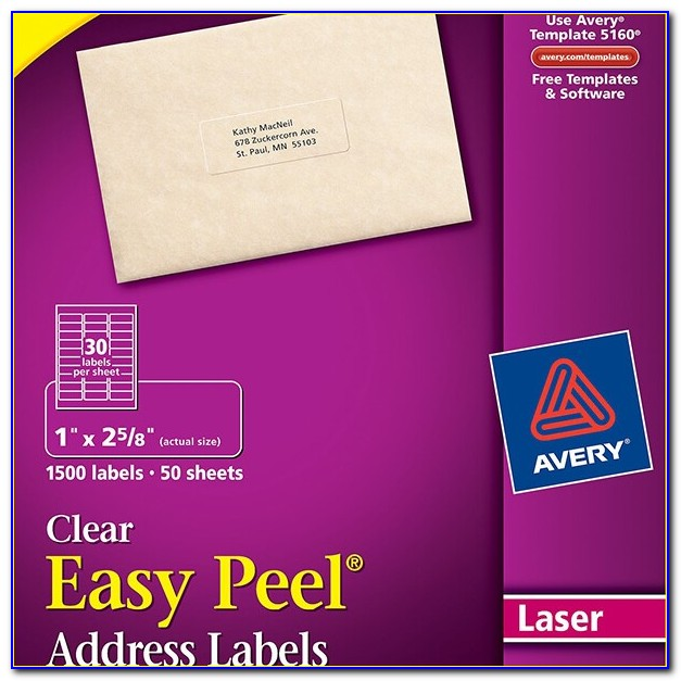 Avery Clear Labels 15663 Template